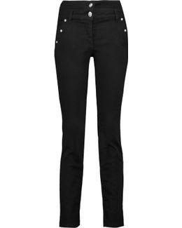 Studded High-rise Straight-leg Jeans