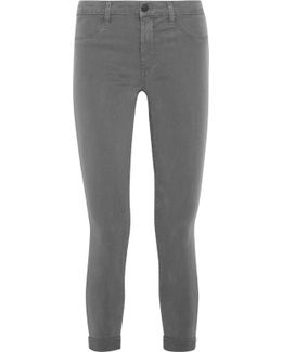 Anja Cropped Stretch-sateen Skinny Pants
