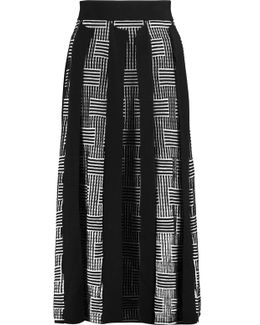 Silk And Cotton-blend Midi Skirt