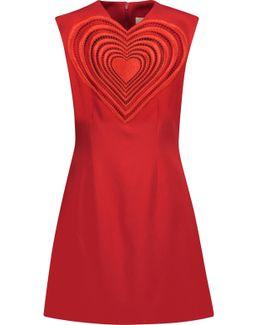 Love Heart Crepe Mini Dress