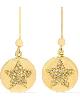 Health Lucky 18-karat Gold Diamond Earrings