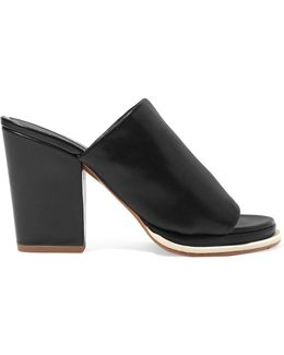 Leather Block-heel Mules