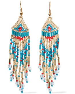 Gold-tone Beaded Earrings