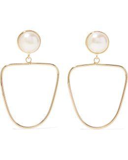 Gold-tone Faux Pearl Earrings