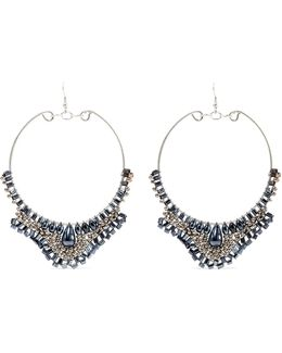 Silver-tone Beaded Earrings