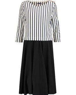 Layered Striped Cotton Dress