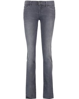 Mid-rise Whiskered Straight-leg Jeans