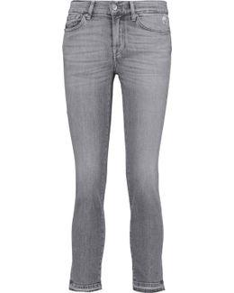 Roxanne Mid-rise Cropped Slim-leg Pants