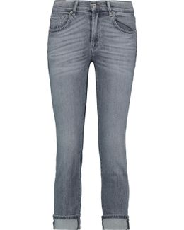 Mid-rise Cropped Whiskered Skinny Jeans