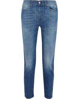 Josie Mid-rise Cropped Straight-leg Jeans