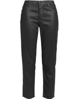 Josie Mid-rise Coated Straight-leg Jeans