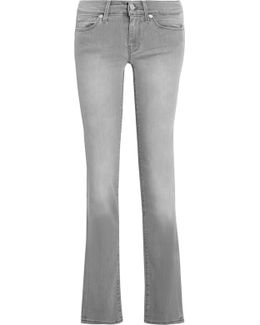 Low-rise Faded Straight-leg Jeans