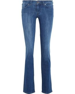 The Straight Low-rise Slim-leg Jeans