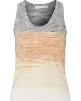 Beryl Dégradé Stretch Cotton And Modal-blend Tank