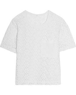 Guipure Lace Cotton Top
