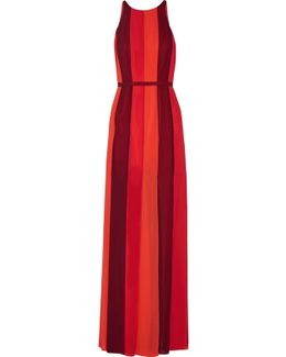 Colorblock Crepe Gown