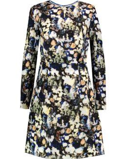 Printed Silk-organza Mini Dress