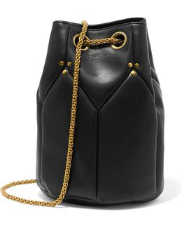 Popeye Quilted Leather Bucket Bag