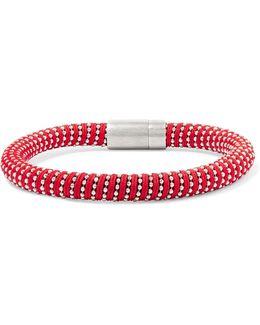Silver-tone Woven Bracelet