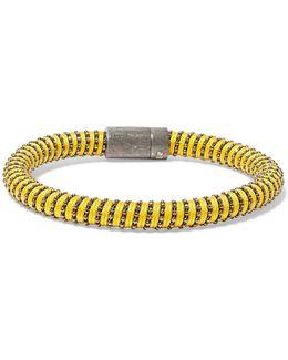 Gunmetal-tone Woven Bracelet