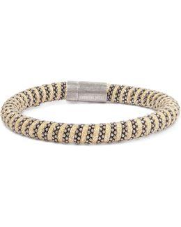 Silver-tone Braided Crystal Bracelet