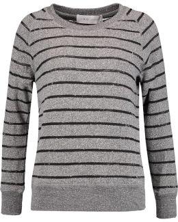 Lourdes Striped Marled Cotton-blend Sweater