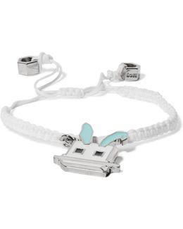 Silver-tone Cord Charm Bracelet