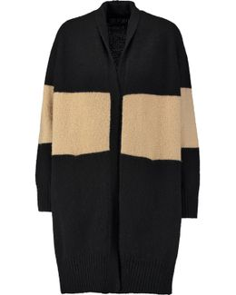 Two-tone Wool-blend Cardigan