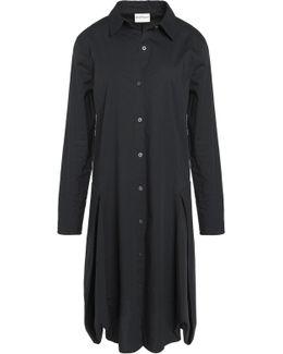 Cotton-blend Poplin Shirt Dress
