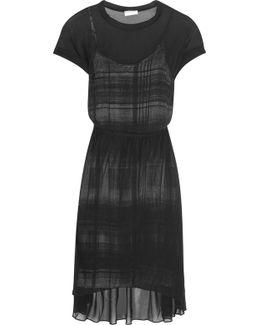 Layered Chiffon Midi Dress