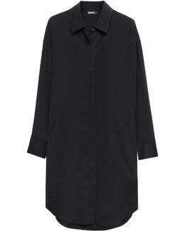 Silk-blend Crepe De Chine Shirt Dress