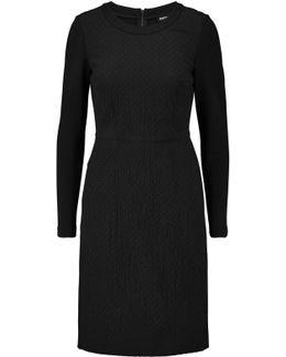 Matelassé Silk-blend And Jersey Dress