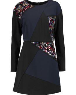 Embellished Ponte Mini Dress