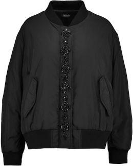 Embellished Shell Bomber Jacket