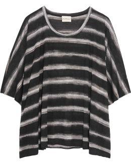 Oversized Striped Modal T-shirt