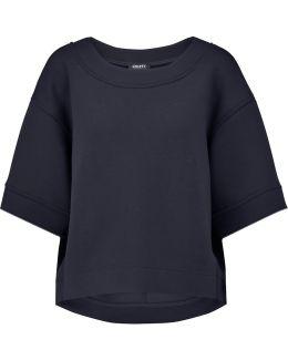 Oversized Scuba-jersey Top