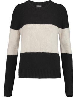 Color-block Wool-blend Sweater