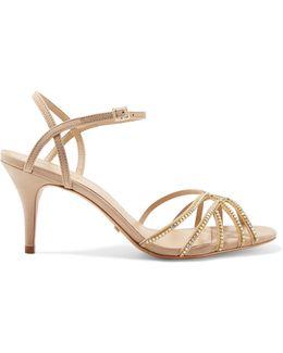 Kalia Crystal-embellished Leather Sandals