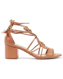 Alianna Lace-up Knotted Leather Sandals