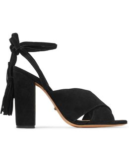 Damila Lace-up Tasseled Suede Sandals