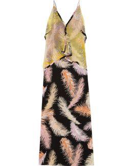 Layered Printed Silk Maxi Dress