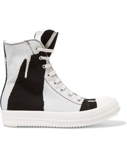 Drkshdw Two-tone Canvas High-top Sneakers