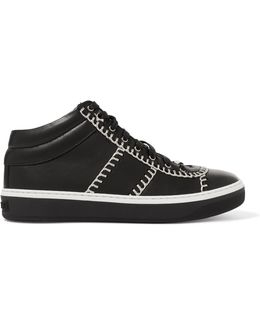 Bells Chain-trimmed Leather Sneakers