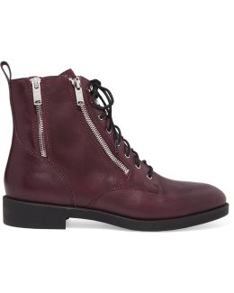 Montague Lace-up Leather Boots
