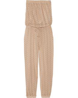 Stella Crochet-knit Jumpsuit