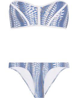 Hamptons Printed Bandeau Bikini