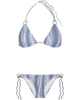 Palm Printed Triangle Bikini