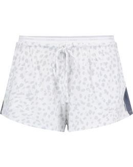 Printed Stretch-modal Pajama Shorts