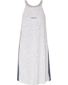 Printed Stretch-modal Jersey Chemise
