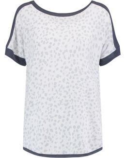Printed Stretch-modal Pajama Top